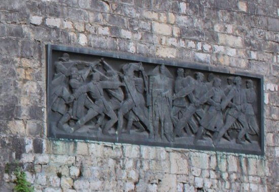 Josip Tito and WWII liberation sculpture relief