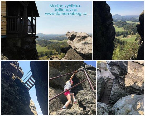Jetrichovice, สาธารณรัฐเช็ก: Mariina vyhlídka byla první ze 3 vyhlídek na naší trase. Více na www.3dmamablog.cz