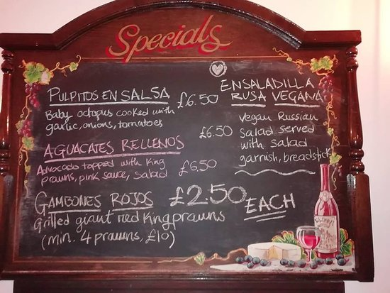 Come and check our specials board.