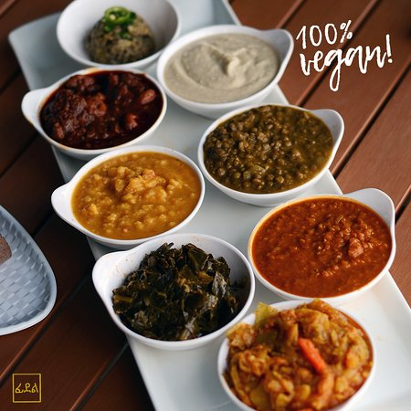 Feedel Bistro: Try our vegan sampler for a delicious mixture of vegan goodness!