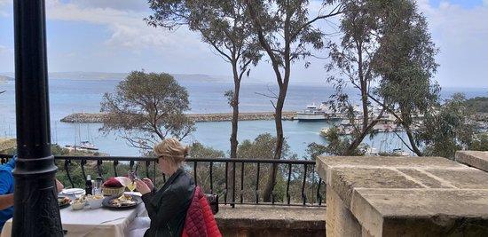 Best restaurant view in Gozo