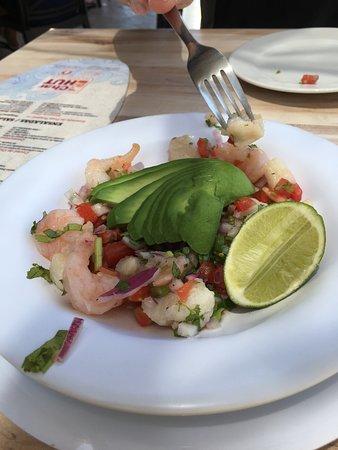 Shrimp and fish ceviche