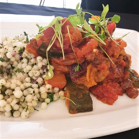 Lovingly cooked for all our veggie and vegan friends! 'Moroccan Tagine with Tabbouleh'. Included in our brand new Spring menu.