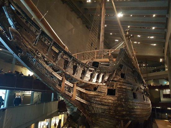Vasa Museum: Сам корабль, вид со входа