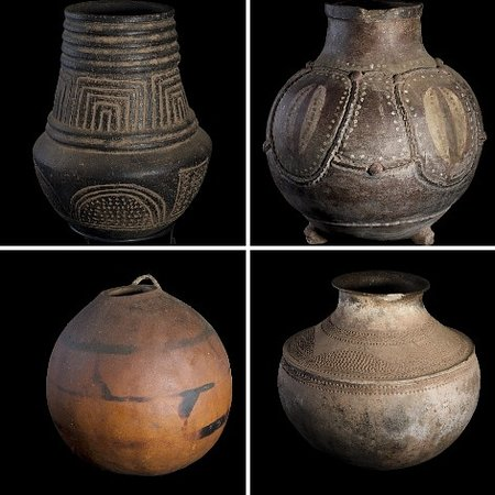 africa has diverse pottery,these particular one we collected in the congo 10 years ..now for sale in our gallery along gayaza road,