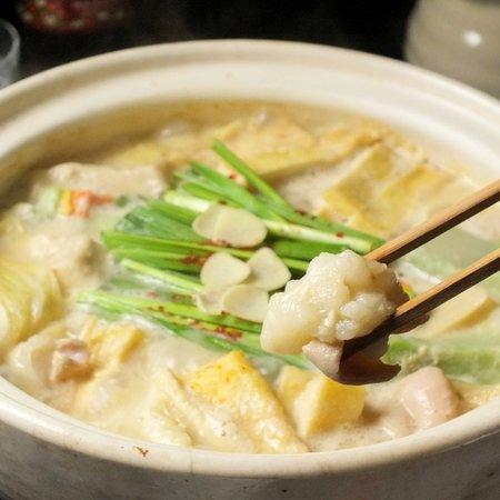 豆乳湯葉もつ鍋