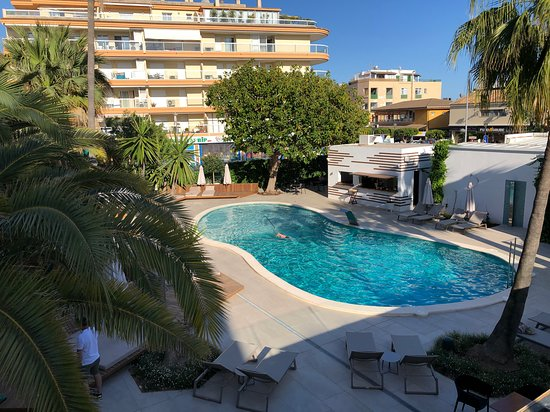 Pool from upper sun terrace