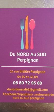 Restaurant Du Nord Au Sud: Restaurant Du Nord Au Sud