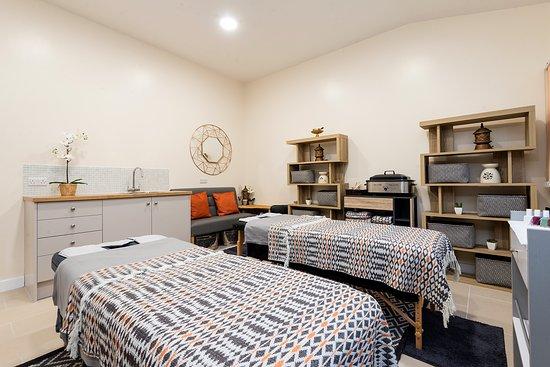 Siam Harmony's Treatment room in The Spa at Burlton, Shropshire
