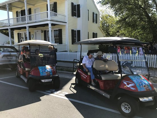 Beaufort Cart Tours: We can pick you up at lodging or other Beaufort location. You don't have to come to us. Great for limited mobility guests