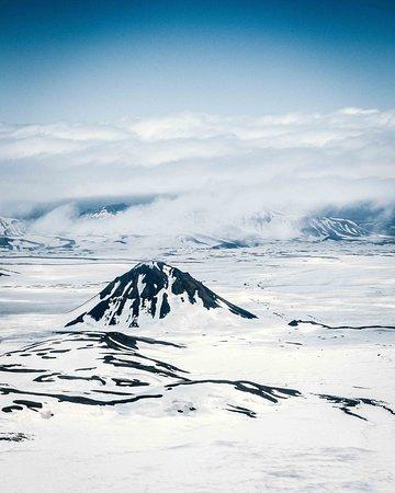 Island: Один из множества вулканов Исландии