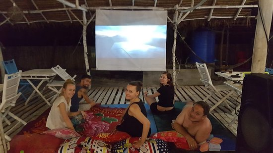Hula'cinema on the beach.