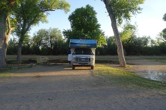 Castolon Campground: Prachtige spot onder de bomen.