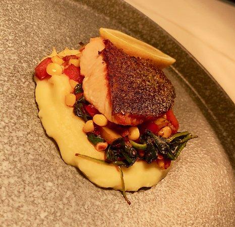 West Hollywood: Salmon special with polenta. delicious! LN2 Restaurant LA