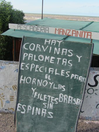 Montevideo Department, Uruguay: signage for daily catch from local fisherman