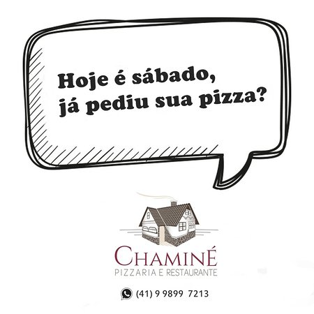 Já pediu sua pizza hoje?