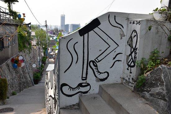 Seoul, Sydkorea: 梨花洞壁画村