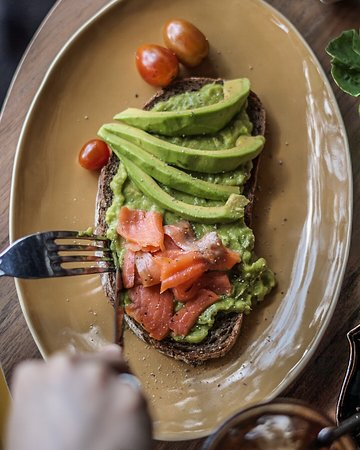 Daily Feed Coffee: Our favorite choice at the moment. Mashed avocado toast.