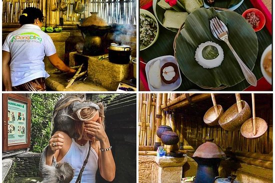 巴厘岛烹饪课与猴子森林