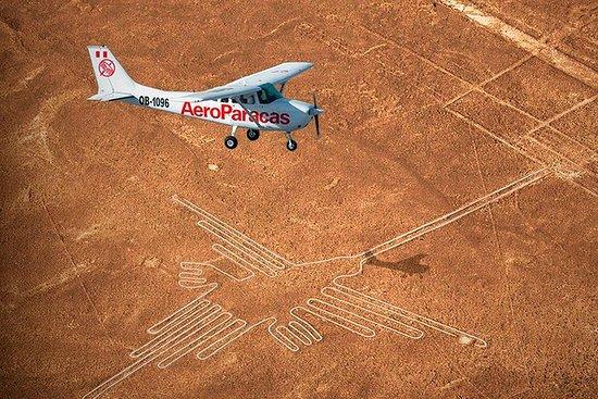 謎のナスカ線、Ica + Huacachinaオアシス+ワインツアーからの飛…