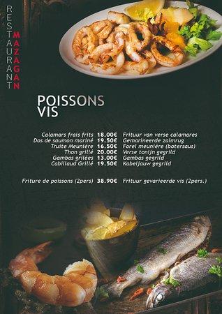 Mazagan: menu