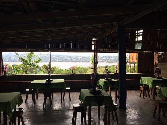 El Mirador del Aguacate: Dining Room at El Mirador...  The view is amazing!