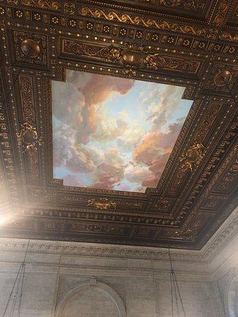 cloud mural, main reading room