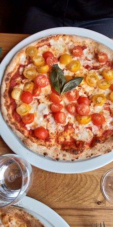 Pizza tomates cerises