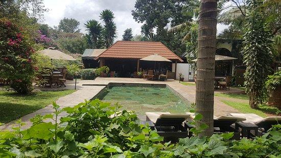 Tamambo Karen Blixen: Hotel pool and cafe
