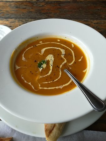 Beejuice Cafe: Spicy butternut soup