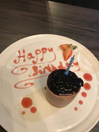 My Hubby's Birthday desert