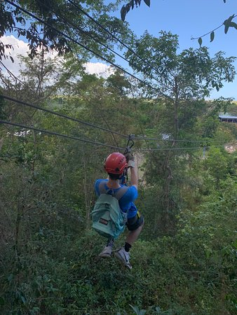 Ecoquest Adventures & Tours: Our 16 year out Ziplining. He LOVED this!