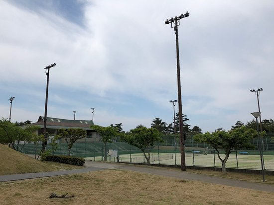 Shimane Prefecture Hamayama Park Tennis Court House