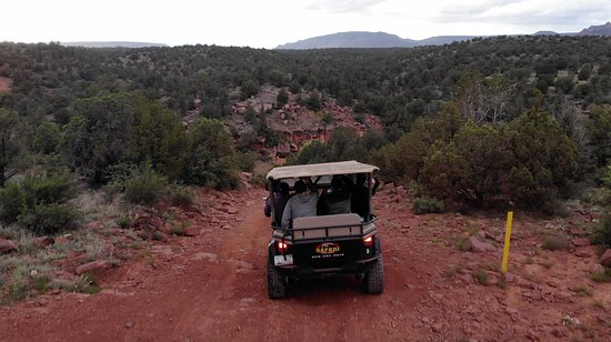 Diamondback Gulch 4x4 Open-Air Jeep Tour in Sedona: Drone shot 2