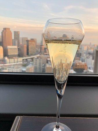 シャンパンとサンセット