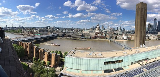 The Tate Modern is a 5 minute walk away - here is a view of Saint Paul's cathedral from the free look out on top of the Tate modern.