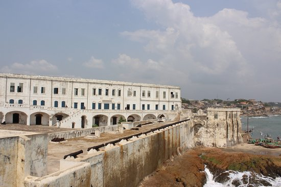 Eyali Tours: Cape Coast Castle, built by the British in 1665 and served as a transit point for transportation of enslaved Africans