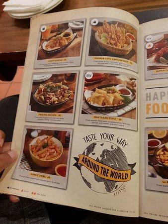 Dishes From Around the World Menu