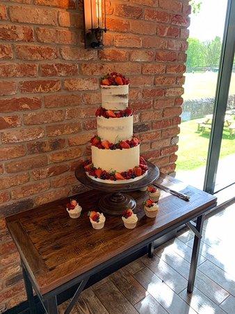 The delicious cake
