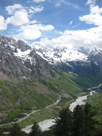 View from Maja e Thate towards Valbona valley