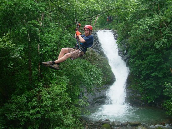 Miramar, Costa Rica: Waterfall Zip Line Tour over 11 waterfalls - the only one in Costa Rica!!