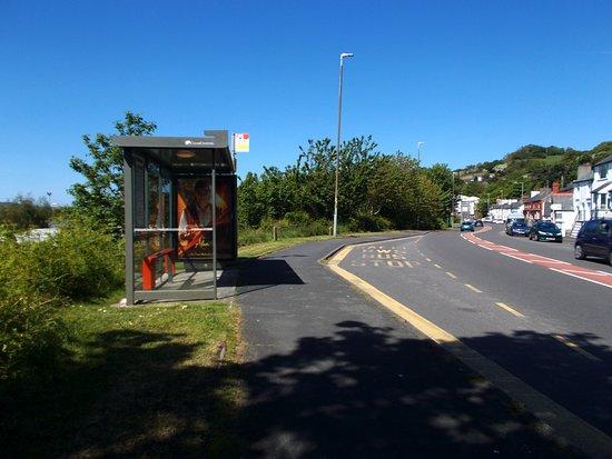 Llansanffraid Glan Conwy, UK: The A470 through Glan Conwy