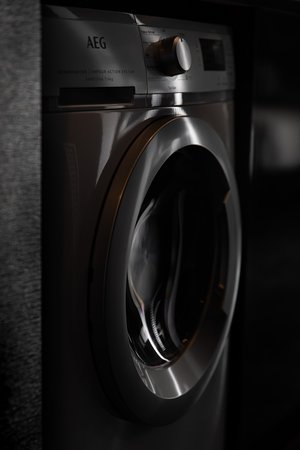 Each room includes a washing machine with dryer function.