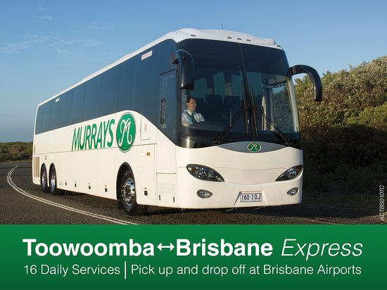Murrays Coaches - Queensland Express  16 Daily Services between Brisbane<>Toowoomba also servicing Withcott, Gatton UQ & Plainland. Free WIFI and USB Chargers available onboard