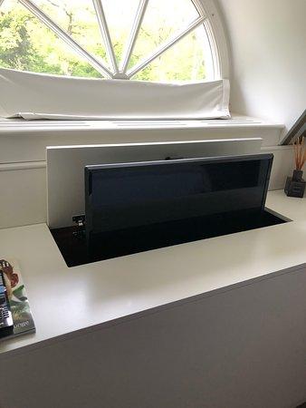 TV hides away