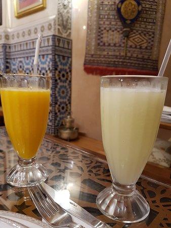 2 très bons cocktails de fruits frais.