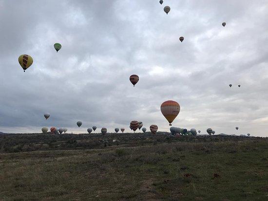 Despegue de globos