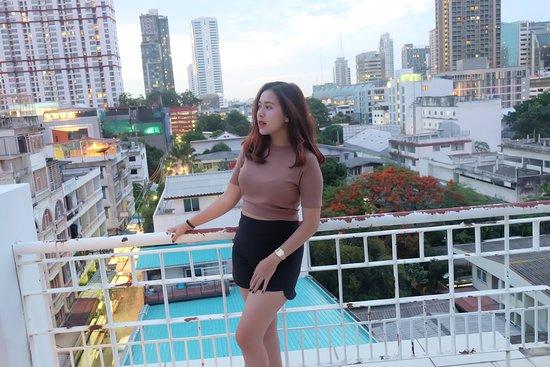 balkon di hotel white palace sancta Indah