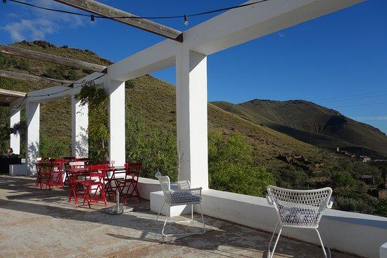 Gergal, สเปน: Une des terrasses et sa superbe vue
