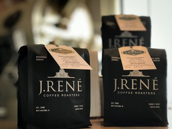 Columbia El Eden whole bean coffee available from J. Rene Coffee Roasters in West Hartford, CT.